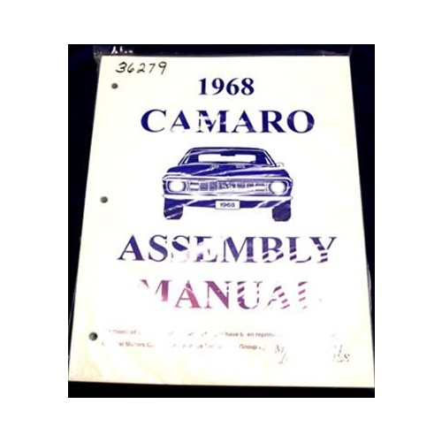 Factory Assembly Manual, Chevrolet, Camaro, 1968-1968