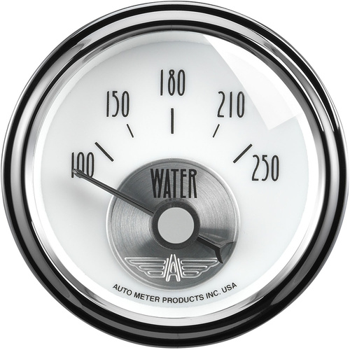 Gauge, Prestige, Water Temperature, 2 1/16 in., 250 Degrees F, Electrical, Pearl, Analog, Each