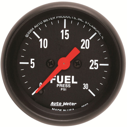 Gauge, Z-Series, Fuel Pressure, 2 1/16 in., 30psi, Digital Stepper Motor, Analog, Each
