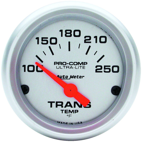 Gauge, Ultra-Lite, Transmission Temperature, 2 1/16 in., 100-250 Degrees F, Electrical, Each