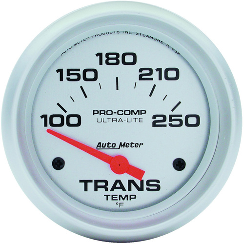 Gauge, Ultra-Lite, Transmission Temperature, 2 5/8 in., 100-250 Degrees F, Electrical, Each