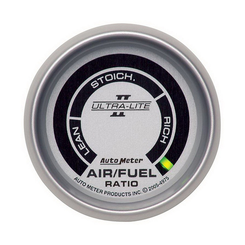 Gauge, Ultra-Lite II, AIR/FUEL RATIO-NARROWBAND, 2 1/16 in., LEAN-RICH, LED ARRAY,
