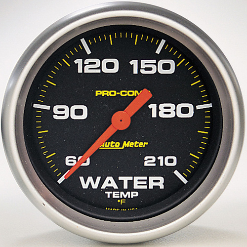 Gauge, Pro-Comp, LOW Water Temperature, 2 5/8 in., 60-210 Degrees F, Digital Stepper Motor, Analog, Each