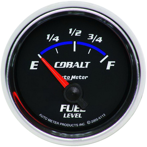 Gauge, Cobalt, Fuel Level, 2 1/16 in., 0-90 Ohms, Electrical, Analog, Each