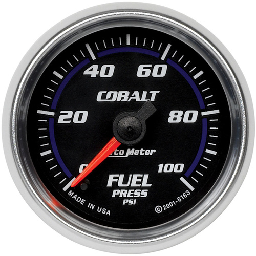 Gauge, Cobalt, Fuel Pressure, 2 1/16 in., 100psi, Digital Stepper Motor, Analog, Each