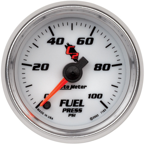 Gauge, C2, Fuel Pressure, 2 1/16 in., 100psi, Digital Stepper Motor, Each