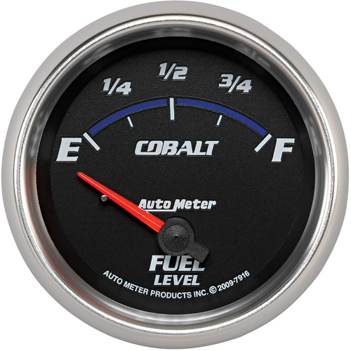 Gauge, Cobalt, Fuel Level, 2 5/8 in., 240-33 Ohms, Electrical, Analog, Each
