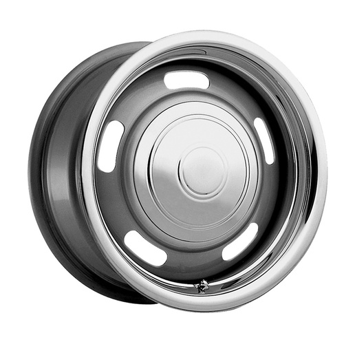 Wheel, Rally, Steel, Silver, 15 in. x 6 in., 5 x 4.5 in./4.75 in. Bolt Circle, 3.750 in. Backspace, Each