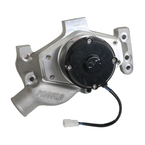 Electric Water Pump, Proflo Maximum, Billet Aluminium, Clear Anodized, 55 gpm, Chevrolet, Small Block, Each