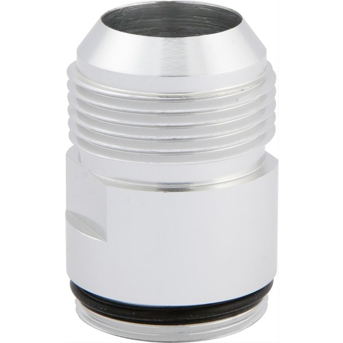 Inlet Fittings, Aluminium, -16 AN Male to 1 3/16 in. Straight Cut Male, Clear Anodized, Each
