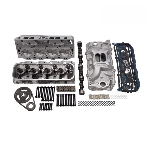 Top End Engine Kit, Power Package, Intake, Heads, Cam, Timing Chain, Head Bolts, BB Chevrolet, 354 HP-470 TQ, Kit