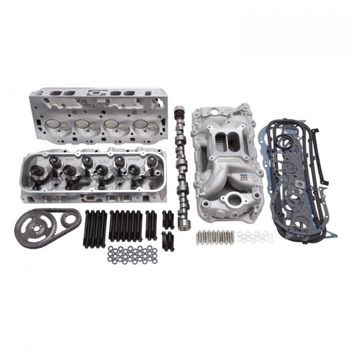 Top End Engine Kit, Power Package, Intake, Heads, Cam, Timing Chain, Head Bolts, BB Chevrolet, 540 HP-539 TQ, Kit