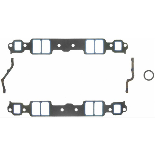 Gaskets, Manifold, Intake, Printoseal, 2.09 in. x 1.28 in. Port, .060 in. Thick, Chevrolet, Small Block, Set