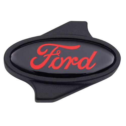 Air Cleaner Wing Nut, Black Crinkle, Ford Logo, Each
