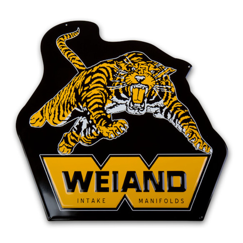 Sign, Metal, 20in. x20in., Weiand, Tiger, Each