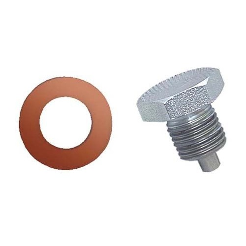 Drain Plug, 1/2in. -20 Threads, Magnetic, Seal, Kit