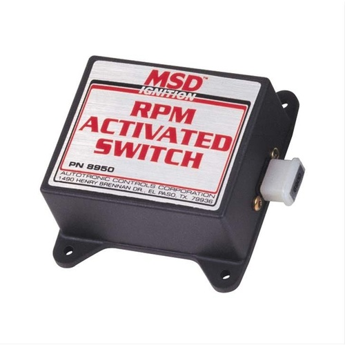RPM Activated Switch, Adjustment Requires MSD Pills, 1 Cylinder, 4-Stroke, 720 Degree Rotation, Each