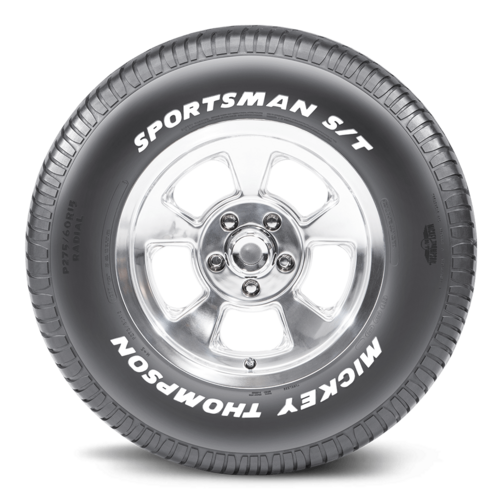 Tyre, Sportsman S/T, P295/50R15, Radial, 2,061 lbs. Maximum Load, S Speed Rated, Solid White Letters, 26.8 O.D., Each