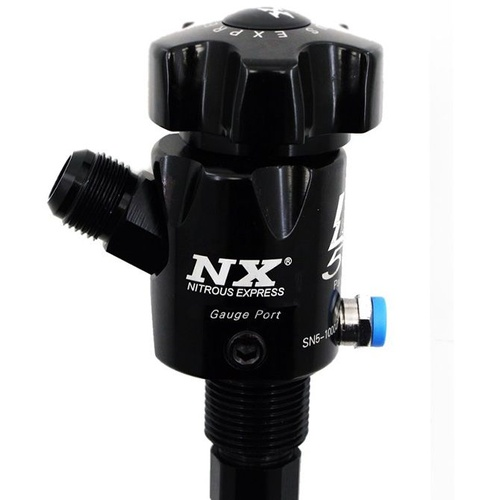 Nitrous Bottle Valve, Lighting, 45 Degree Outlet, Fits 10 lb bottle, Each