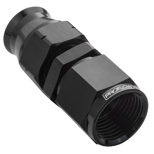 1/2in. Tube To Female -08AN Hose End Aluminium Tube Adaptor, Black