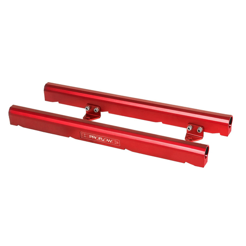 Fuel Rails Kit, Billet Aluminium, Red Anodised, Holden Chevrolet VE LS7
