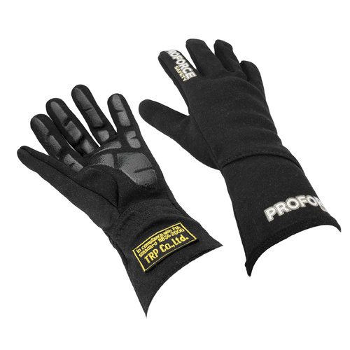 Driving Gloves, Pro 1 Racing, Double Layer, Nomex, Black, FIA, Large, Pair