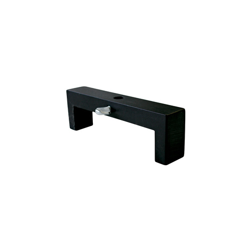 Dial Indicator Stand, Aluminium, Black Anodized, w/o Magnetic Base, Deck Bridge, 4 1/2 in. Bore Span, Each