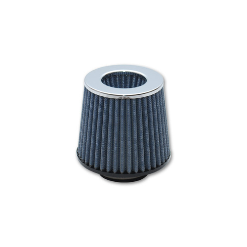 Air Filter, OPEN FUNNEL style, Conical, Cotton Gauze Element, 2.75 in. inlet Flange I.D., 6.25 in. Overall Length, Chrome Cap, Each