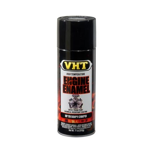 Paint, High-Temperature, Engine, Enamel, Satin, General Motors Black, 11 oz., Aerosol Spray Can, Each